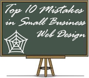 top ten mistakes in small business web design