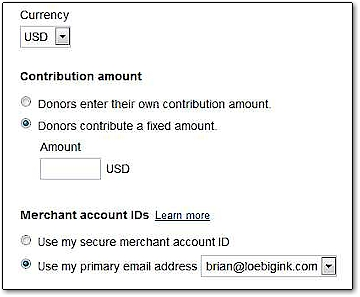 how to create a donate button