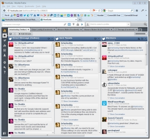 hootsuite monitoring window