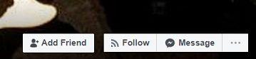 Facebook Add Friend and Follow buttons