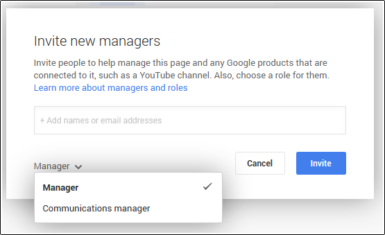 google page manager