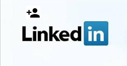 LinkedIn logo with add a person icon