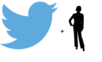 Twitter logo + manager drawing
