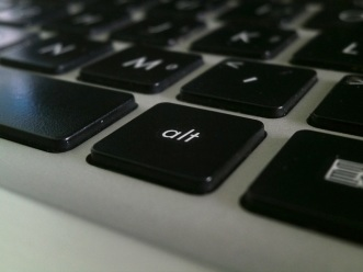 computer keyboard featuring the alt key