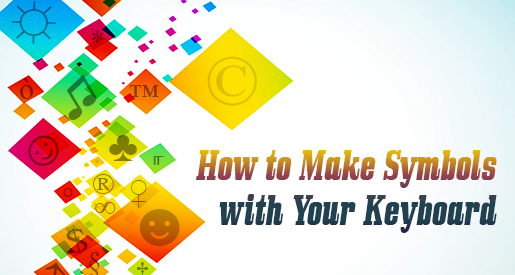 How to Make Symbols with Your Keyboard - colorful symbols