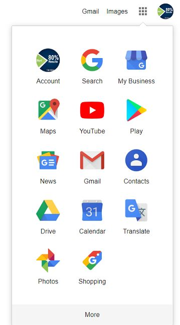 Google account icons