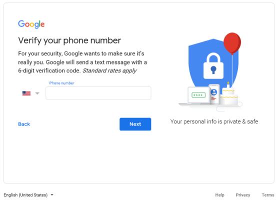 Google verify phone number