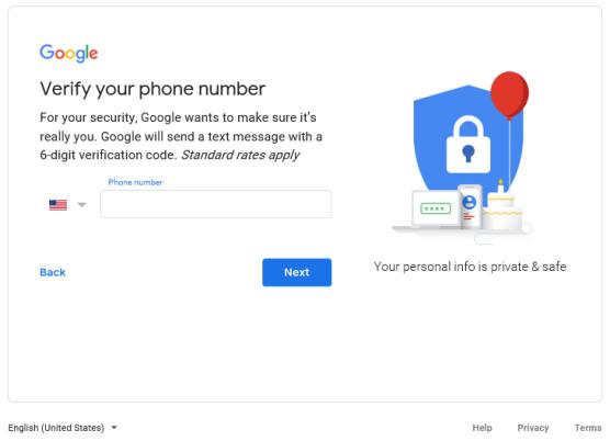 Google verify phone number