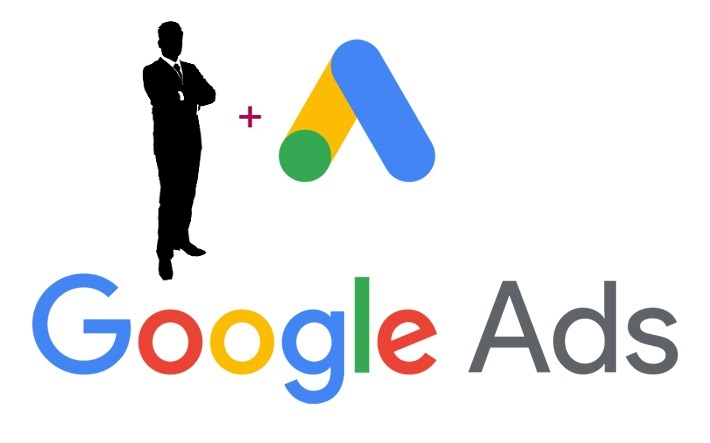 """Google ads logo with an """"add a manager"""" illustration"""